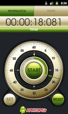 کرنومتر و تایمر حرفه ای آندروید با اینترفیس زیبا Hybrid Stopwatch And Timer v1.1.2
