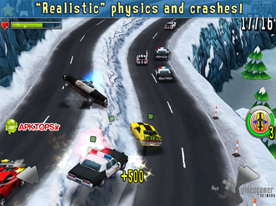 بازی فوق العاده زیبا و گرافیکی ماشین های کوچک مسابقه ای به همراه دیتا Reckless Getaway 1.0.4+data