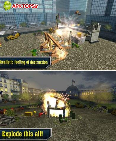 دانلود بازی مهیج ویران سازی ساختمان ها و اماکن برای آندروید Demolition Master 3D 1.8