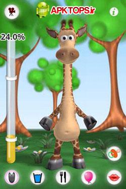 دانلود بازی و سرگرمی جالب زرافه سخنگو برای آندروید به همراه فایل دیتا Talking Gina the Giraffe1.2.4