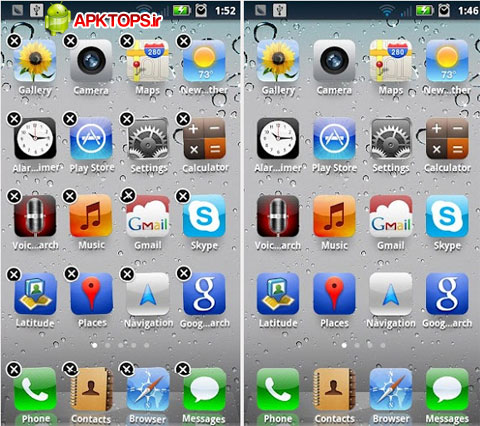 دانلود لانچر و شبیه ساز گوشی های آیفون برای آندروید iPhone Launcher 1.10