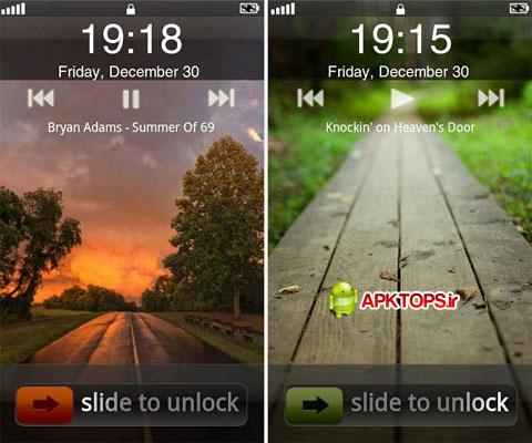 دانلود نرم افزار قفل صفحه به سبک گوشی های آیفون برای آندروید iPhone Lock Screen Theme 2.0