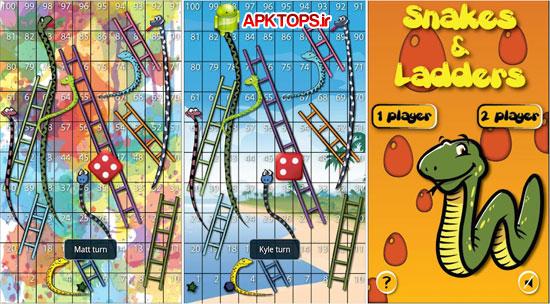 دانلود باری خاطره انگیز مار و پله برای آندروید Snakes and Ladders Ludo 6.0