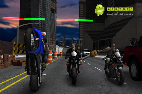 دانلود بازی فوق العاده زیبا و هیجانی مسابقات مرگبار موتور سواری برای آندروید Race, Stunt, Fight 2! 1.11