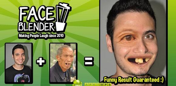 دانلود نرم افزار خنده دار ترکیب چهره افراد با یکدیگر برای آندروید Face Blender 2.0.6