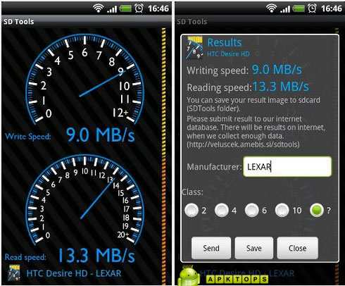 دانلود نرم افزار تست سرعت و کلاس مموری کارت برای آندروید SD Tools ...