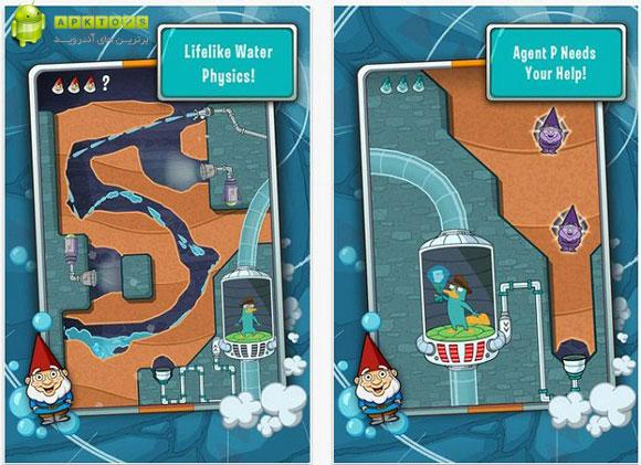 دانلود بازی مهیج و فکری Where's My Perry برای آندروید Where's My Perry? 1.4.0