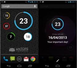 دانلود نرم افزار شمارش روز معکوس برای وقایع و روزهای مهم برای آندروید Widget Premium v1.1.7