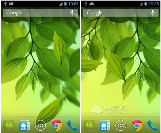 Galaxy-S4-Leaf-Live-Wallpaper-v1.0.1