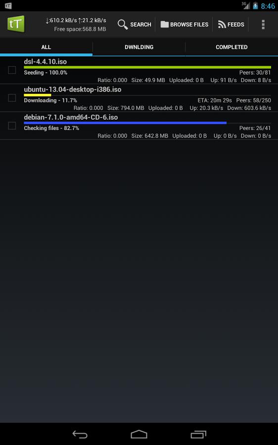 tTorrent - Torrent Client App v1.6.3 برنامه دانلود از تورنت اندروید