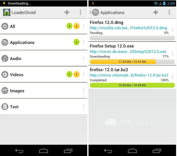 loader droid download manager