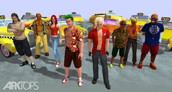 Crazy-Taxi-Characters