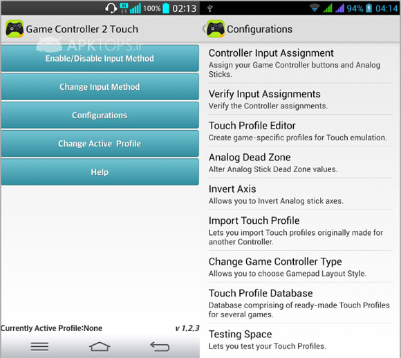 Game Controller 2 Touch 1.2.3