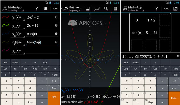 MathsApp Graphing Calculator 1.3