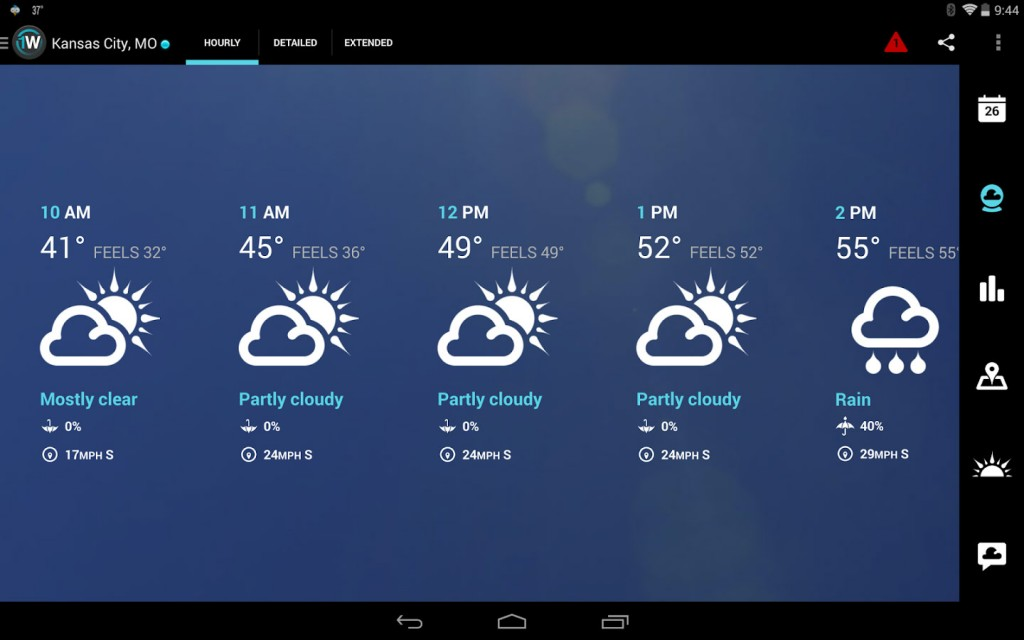 1Weather Pro Local Forecast Radar v4.2.8 دانلود بهترین نرم افزار هواشناسی اندروید