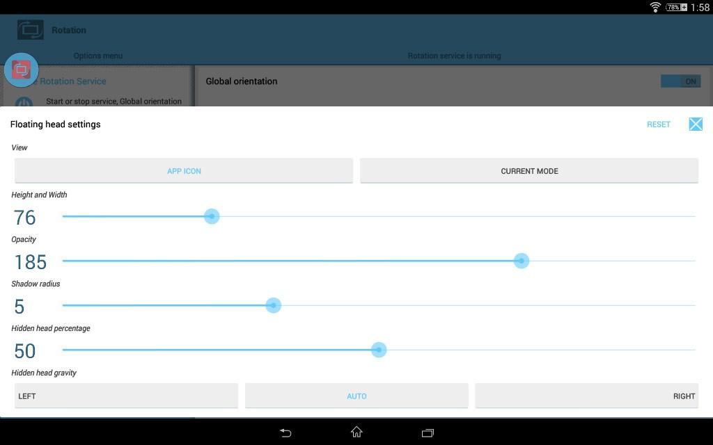 Rotation Orientation Manager v10.7.0 برنامه مدیریت چرخش صفحه در اندروید