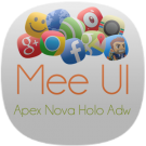 MeeUI HD Apex Nova Holo Adw
