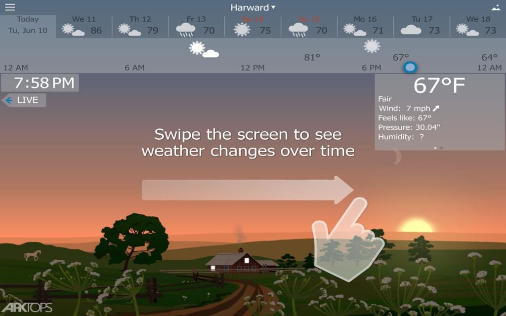 YoWindow Weather v2.13.16 دانلود یو ویندو برنامه هواشناسی اندروید