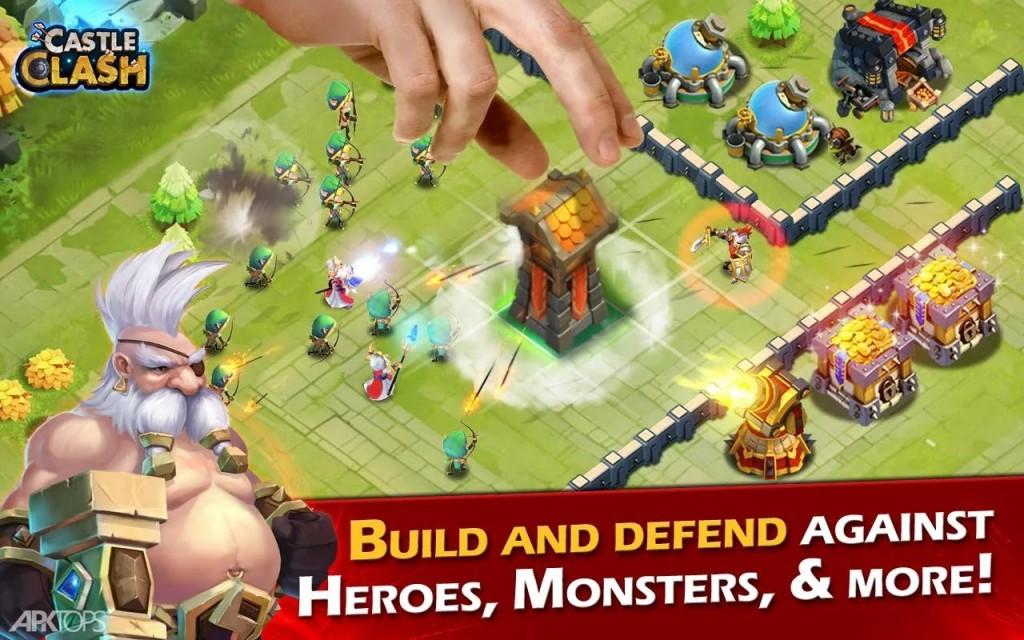Castle Clash v1.5.5 دانلود بازی استراتژیک کستل کلش برای اندروید