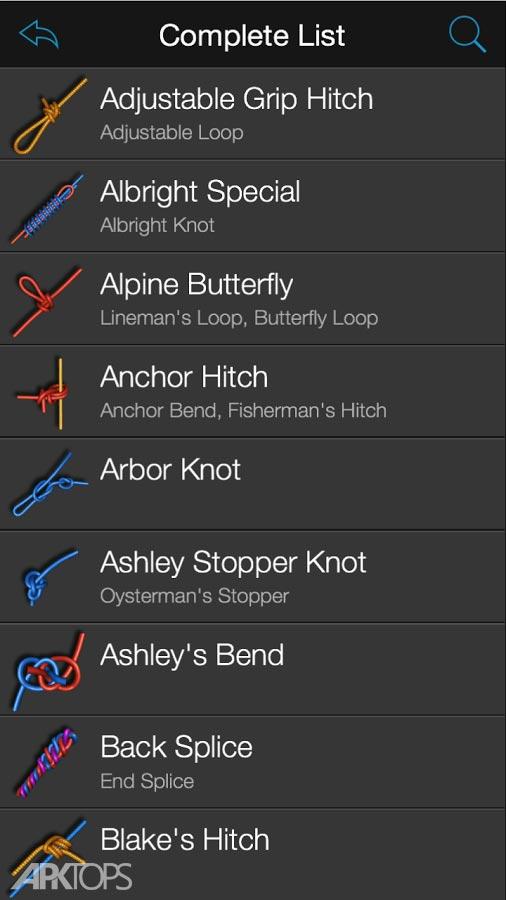 Knots 3D v5.9.5 دانلود نرم افزار آموزش بستن مدل های مختلف گره برای اندروید