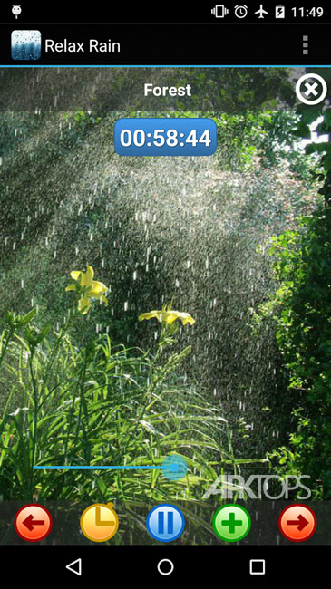 Relax Rain – Rain sounds Premium v5.4.4 دانلود برنامه صدای های آرامش بخش باران برای اندروید