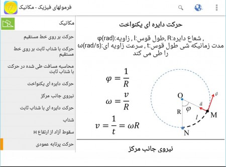 Physics Formulas persian