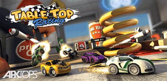 Table Top Racing Premium v1.0.43 دانلود بازی مسابقات اتومبیل رانی رو میزی