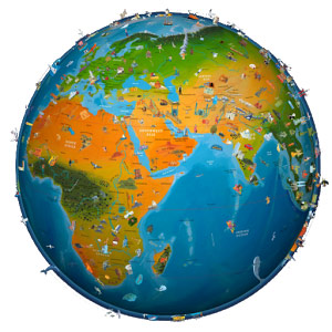 world map atlas 2015