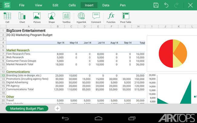 WPS Office + PDF v11.3.1 دانلود آفیس اندروید با پشتیبانی از فارسی