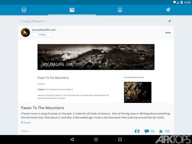 WordPress v6.0 دانلود برنامه وردپرس برای اندرویدهمچنین امکان انجام کارهایی مانند مدیریت پوسته، مدیریت افزونه ها، مدیریت وردپرس و … نیز امکان پذیر است. در ادامه می توانید این نرم افزار را با لینک مستقیم از ...