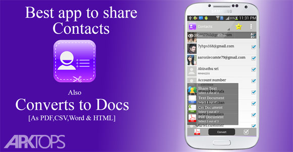 Contacts-to-Text