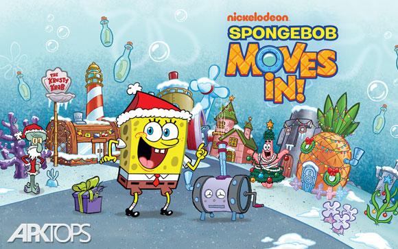 SpongeBob Moves In 4.35.00 دانلود بازی استراتژیکی باب اسفنجی + مود + دیتا برای اندروید