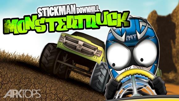 Stickman Downhill Monstertruck - بازی استیکمن سراشیبی ک ماشین هیولایی