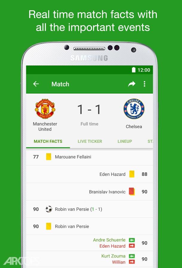 FotMob-Live Football Scores v85.0.5558.20181011 Unlocked اطلاع از نتایج مسابقات فوتبال