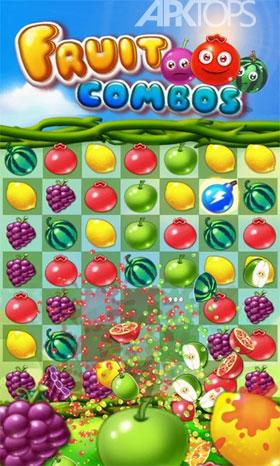 Fruit Combos 1.2.001 دانلود بازی چیدن میوه های هم رنگ اندروید