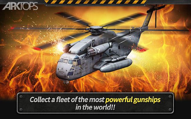 GUNSHIP BATTLE Helicopter 3D v2.7.27 دانلود بازی نبرد هلیکوپترها+مود