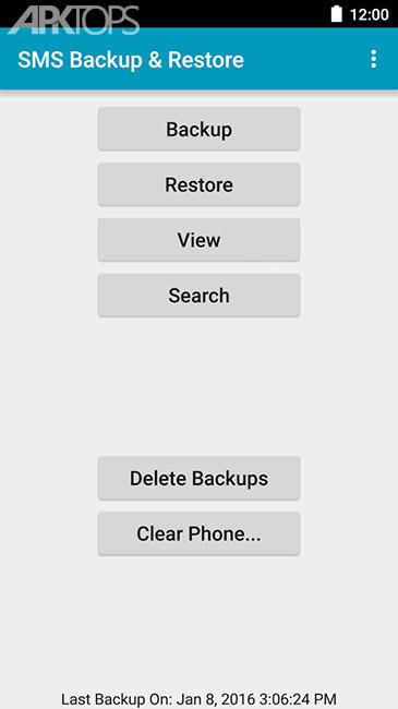 دانلود SMS Backup & Restore Pro 7.45 پشتیبان گیری از اس ام اس اندروید