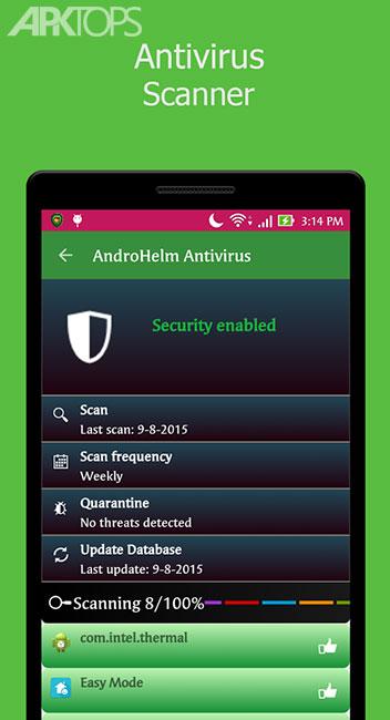 AntiVirus Android 2.3.3 دانلود برنامه آنتی ویروس قدرتمند اندروید
