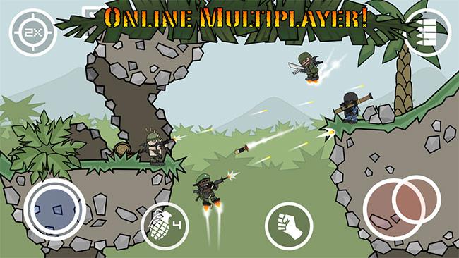 Doodle Army 2 Mini Militia v4.2.4 دانلود بازی ارتش نادان ها + مود