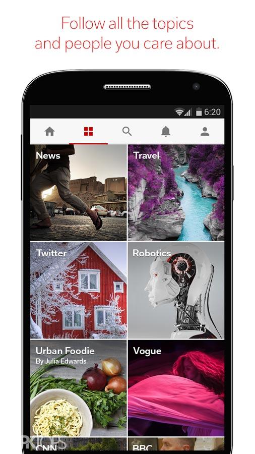Flipboard: News For Any Topic v4.2.5 b4532 دانلود فلیپ بورد اندروید
