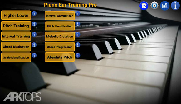 Piano Ear Training Pro v81 آموزش پیانو