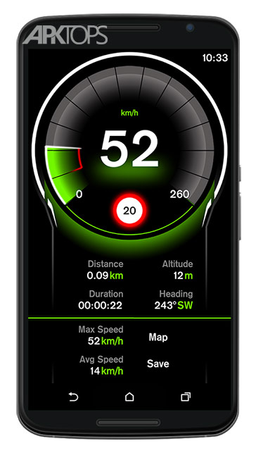 Speed View GPS Pro v1.4.16 دانلود برنامه نمایش سرعت برای اندروید