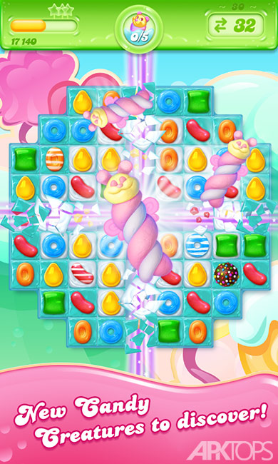 Candy Crush Jelly Saga v2.17.8 دانلود بازی کندی کراش برای اندروید