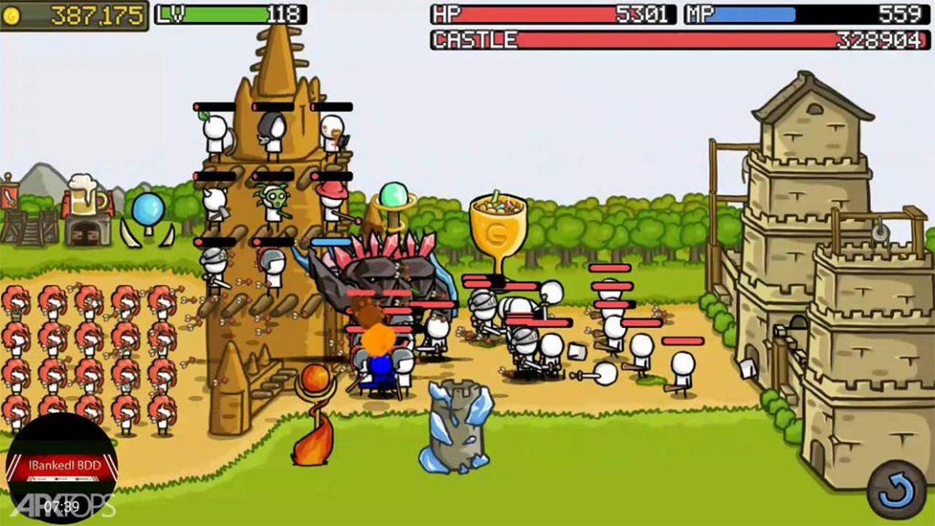 Grow Castle v1.24.6 دانلود بازی زیبای صعود قلعه + مود اندروید