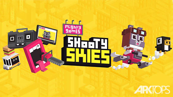 دانلود بازی Shooty Skies - Arcade Flyer
