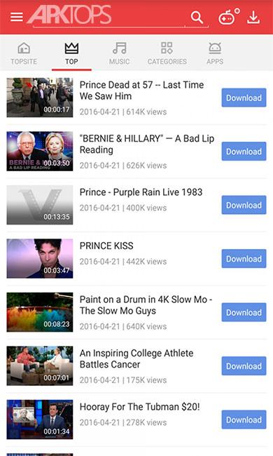Vidmate – HD Video && Music Downloader Ad-Free v4.1502  برنامه دانلود فیلم های آنلاین