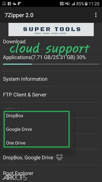 7Zipper 2 v2.8.2 دانلود نرم افزار مدیریت فایل های فشرده در اندروید