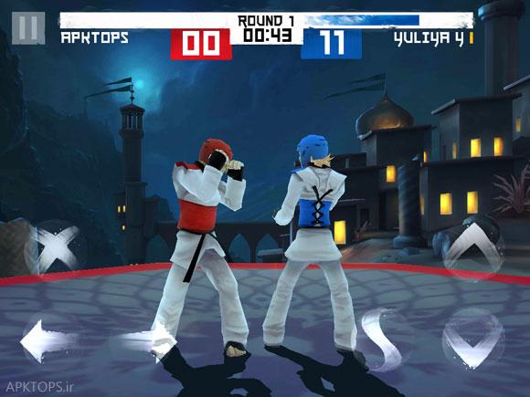 زمین مسابقه کشور ایران در بازی Taekwondo Game