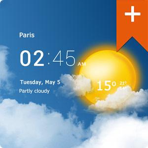Transparent clock & weather Pro v0.99.02.41دانلود برنامه هواشناسی اندروید