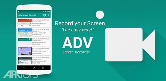 ADV Screen Recorder PRO v3.3.1 دانلود برنامه فیلم برداری صفحه نمایش
